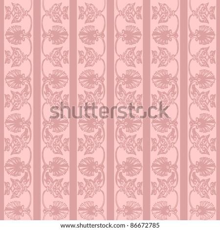 vector elegant and romantic vintage background illustration( Invitation card) pink - stock vector