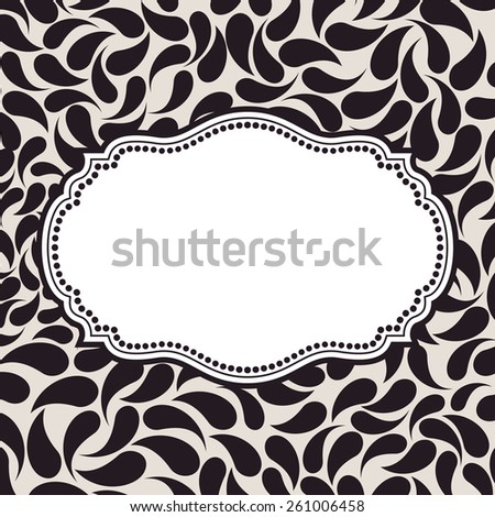 Vector elegant background pattern. Floral frame elements, ornament background seamless - stock vector