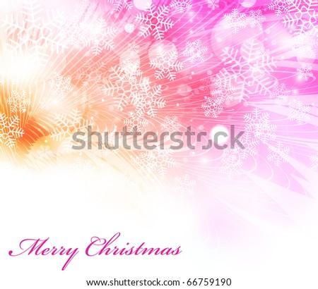 Vector elegant christmas background EPS10 - stock vector