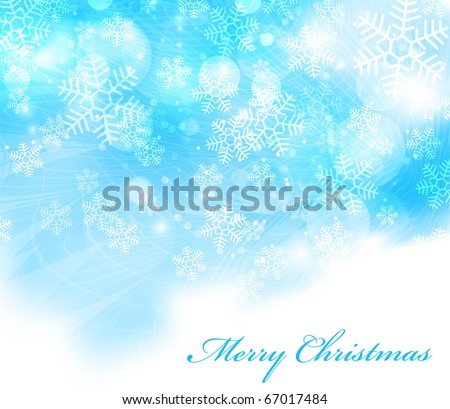 Vector elegant christmas background with beautiful snowflakes EPS10 - stock vector