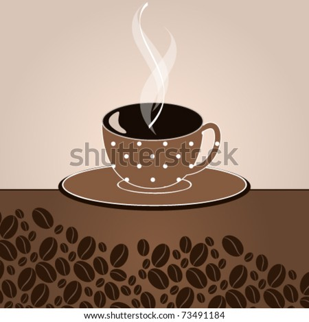 Vector elegant coffee themed background illustration