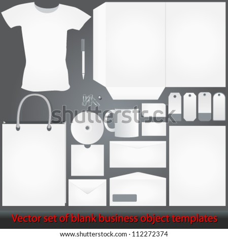 Vector elegant, detailed blank, white corporate templates illustrations - stock vector