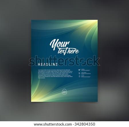 Vector elegant flyer design template - stock vector