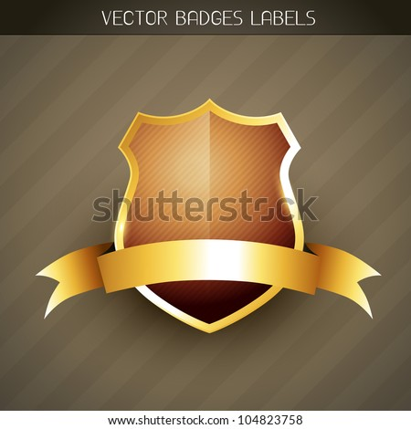 vector elegant golden style label - stock vector