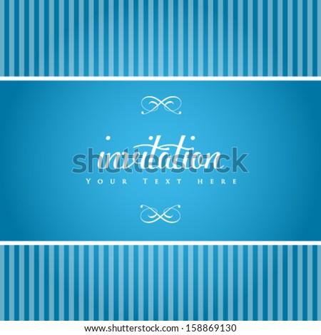 Vector elegant invitation card. - stock vector