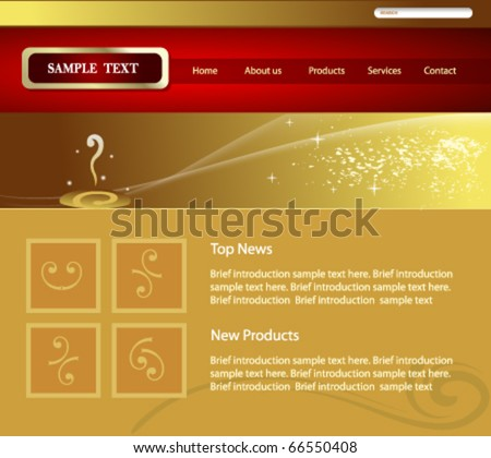 vector elegant website design - stock vector