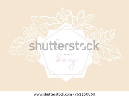 Simple Floral Line Art : Vector elegant wedding invitation floral bouquet stock hd