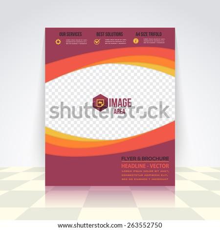 Vector Elements Business Concept Flyer, Brochure Design. Corporate Leaflet, Cover Template - stock vector