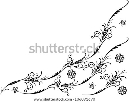 Vector elements for design flowers and ornaments floral. - stock vector