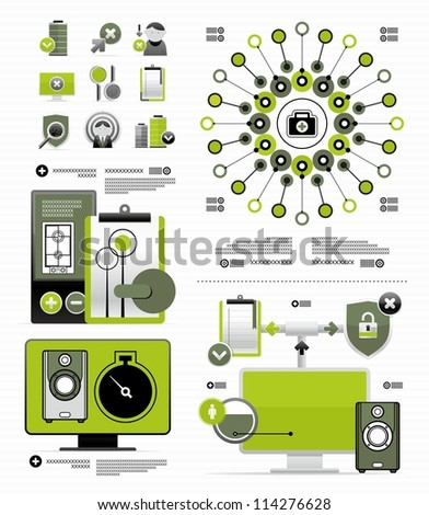 vector elements for infographic - stock vector