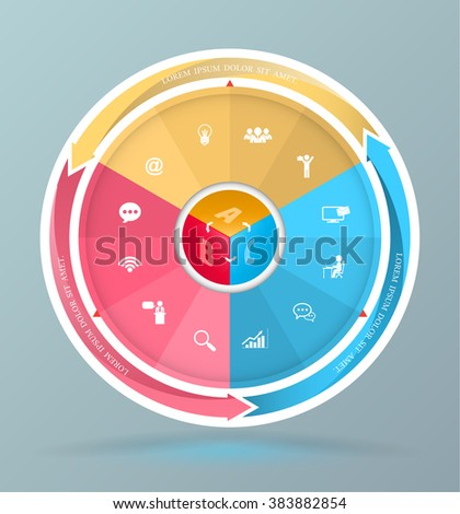 Wheel diagram stock images royalty free images vectors template for diagram presentation graph and chart business ccuart Images