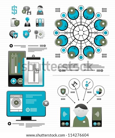 vector elements for newspaper infographic - stock vector