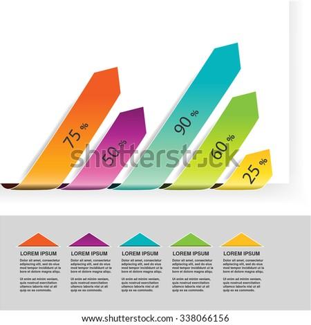 Vector Elements Infographics Diagram Arrows Simple Stock Vector ...