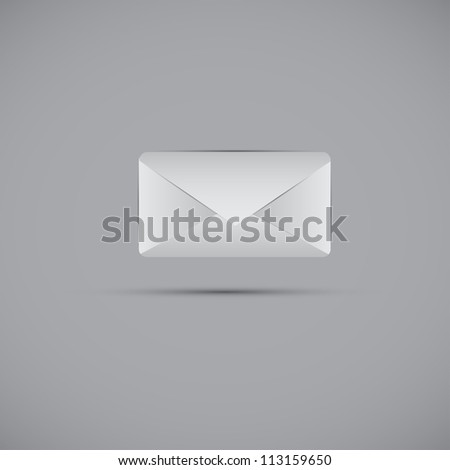 vector email and message icon web design element.