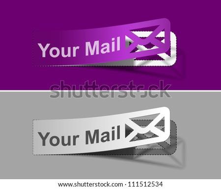 vector email labels web design element. - stock vector