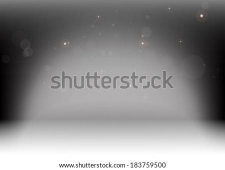 Vector empty podium lighted  background illustration  - Abstract virtual podium lights background  template - stock vector