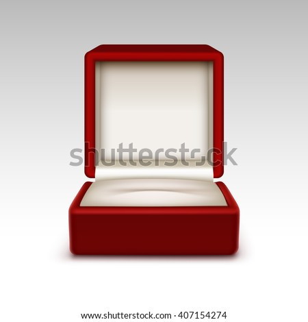 Empty ring box stock illustrations images vectors for Red velvet jewelry gift boxes