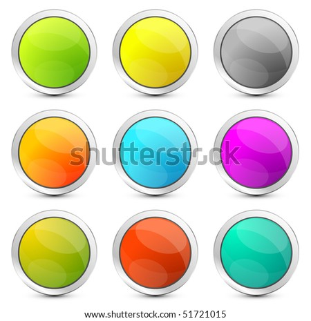 Vector empty round buttons