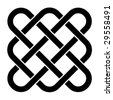 vector endless celtic knot - stock photo
