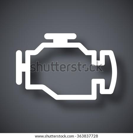 Vector engine icon - stock vector