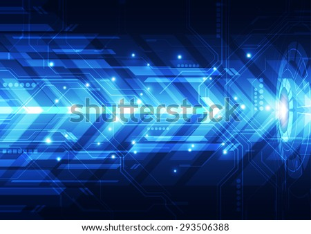 vector engineering technology system, abstract background - stock vector