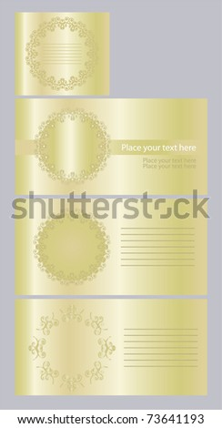 Vector envelope and a set of invitations, eps10 - stock vector