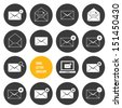 Vector Envelope Business Shopping and Other Icons for Email - stock vector