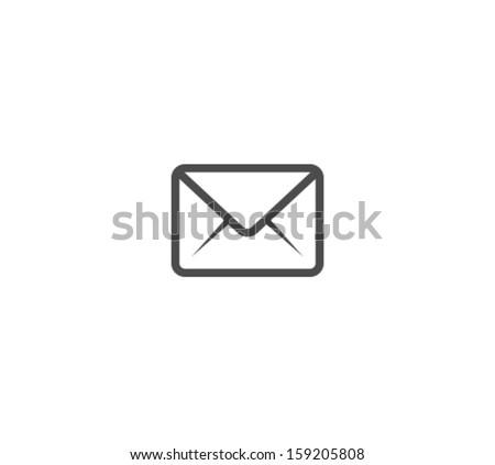Vector Envelope Icon Symbol - stock vector