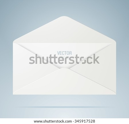 Vector envelope. White opened envelope isolated on a background. - stock vector