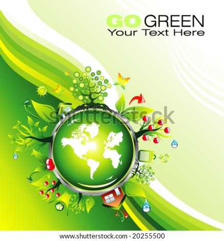 VECTOR Environmental and recycle Card template