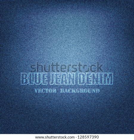 Vector EPS 10 - Blue Denim Texture Background - stock vector