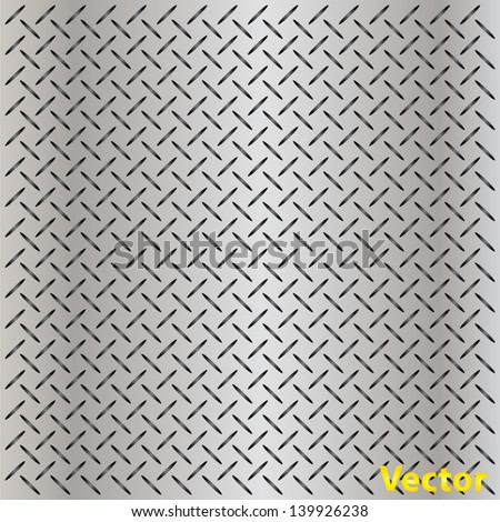 Vector eps concept conceptual gray metal stainless steel aluminum perforated pattern texture mesh background as metaphor to industrial,abstract,technology,grid,silver,grate,spot,grille surface - stock vector