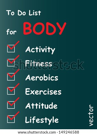 Vector eps concept conceptual white chalk text blackboard word cloud tagcloud on green background to body,fitness,health ,energy,gym,athletic,sport,weight,wellness,silhouette,climb,goal wordcloud - stock vector