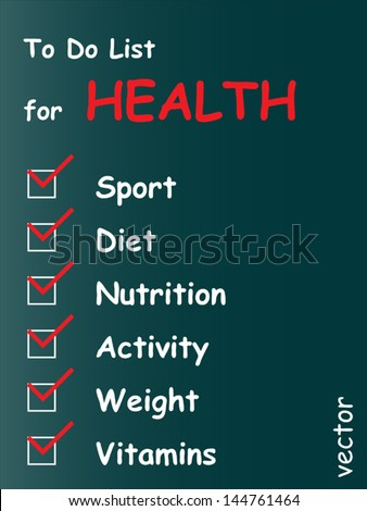 Vector eps concept or conceptual white chalk text word cloud tagcloud as blackboard background, metaphor for health,nutrition,diet,wellness,body,therapy,weight,energy,medical,sport,heart science - stock vector