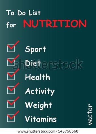 Vector eps concept or conceptual white chalk text word cloud tagcloud as blackboard background, metaphor for health,nutrition,diet,wellness,body,therapy,weight,energy,medical,sport,heart science