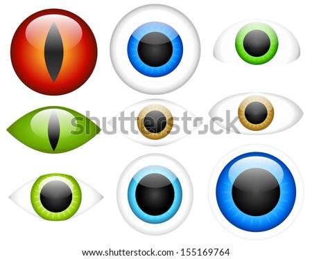 Vector EPS 10 Eye Set - stock vector