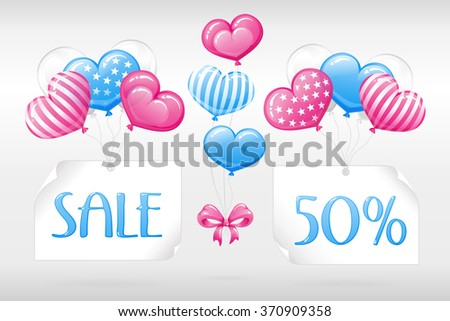 VECTOR eps 10. SALE 50%! Pink blue Design FOR Mothers day, Valentines day, Wedding invitations and other romantic ways. See more in my sets  - stock vector