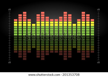 Vector Equalizer. - stock vector