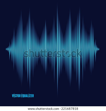 Vector equalizer, colorful musical bar. Dark background - stock vector