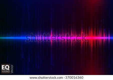 Vector equalizer, colorful musical bar. Dark background. Wave concept - stock vector