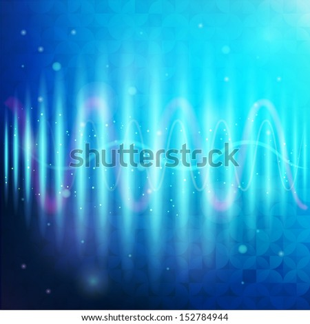 Vector equalizer design template - stock vector