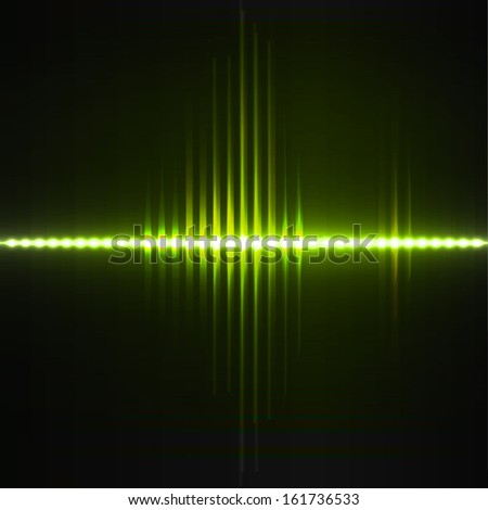 Vector equalizer, green lights background