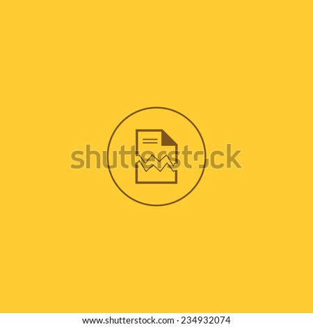 Vector error document Icon - stock vector