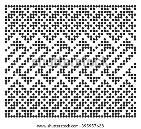 Vector ethnic dot seamless pattern