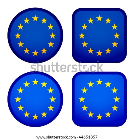 Vector EU flags - stock vector