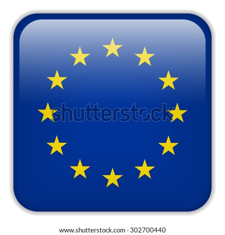 Vector - Europe Flag Smartphone Application Square Buttons - stock vector