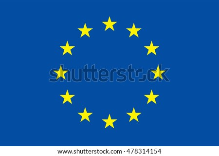 Vector European Union flag