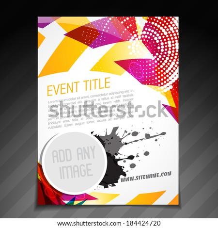 vector event  brochure flyer template poster design - stock vector