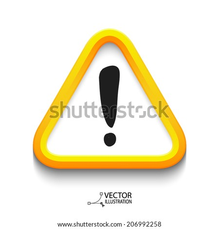 Vector exclamation mark - stock vector