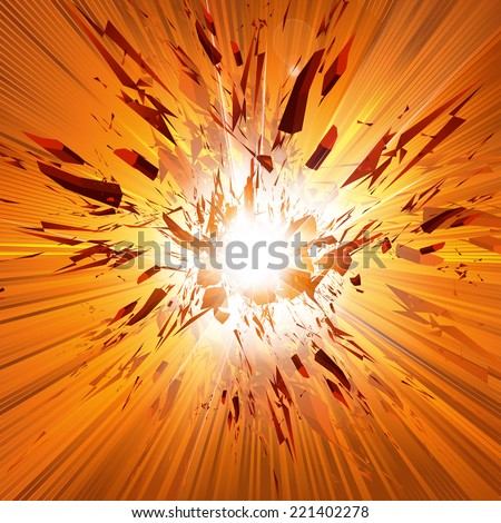 Vector Explosion, all easy editable - stock vector